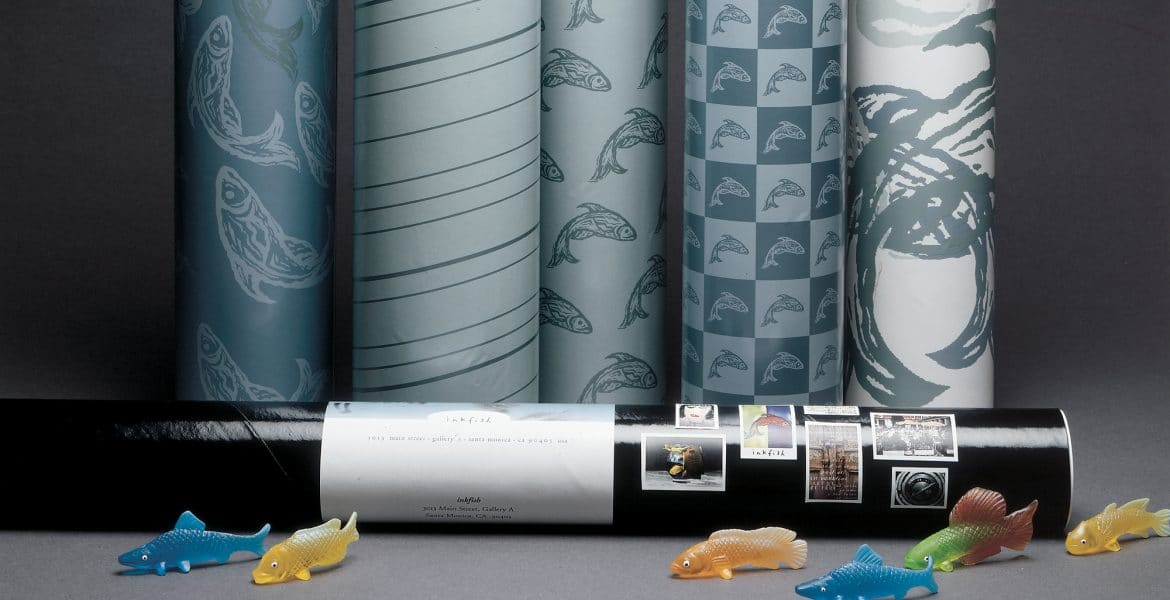 inkfish wrapping paper